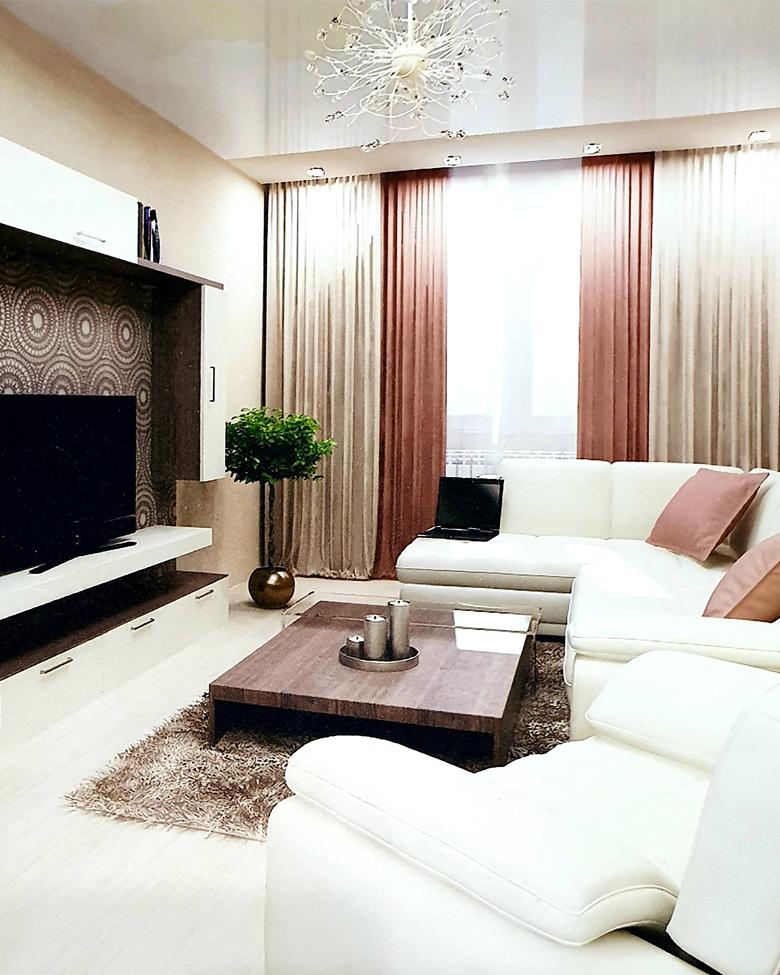 Комплексный ремонт «под ключ» 3х комнатной квартиры 70-76 кв. м.